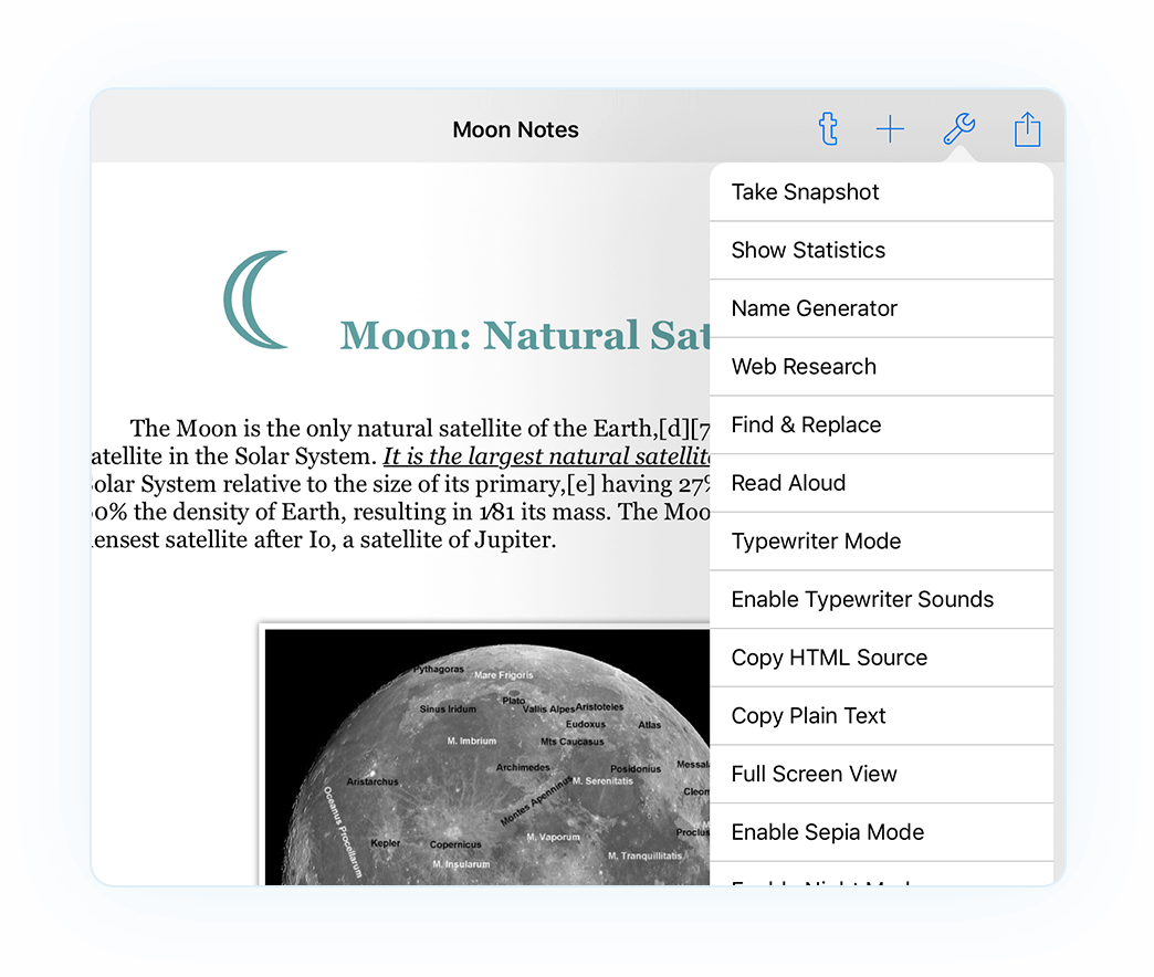 Notes Writer Features